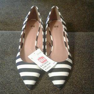 H&M Stripped Heels